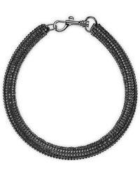 Swarovski - Slim Bolster Necklace Jet Hem - Lyst