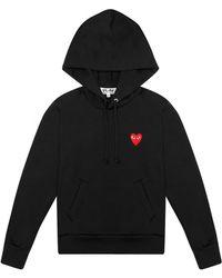Comme des Garçons - Play Womens Red Heart Hoodie Black - Lyst