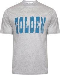Golden Goose Deluxe Brand - Golden Print T-shirt Melange Grey - Lyst