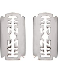 KTZ - Razor Blade Earrings Silver - Lyst