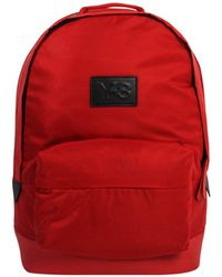 Y-3 | Logo Techlight Backpack Red | Lyst
