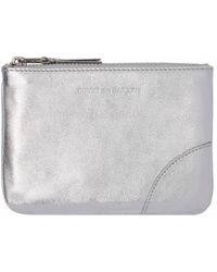 Comme des Garçons - Sa8100g Small Zipped Wallet Silver - Lyst