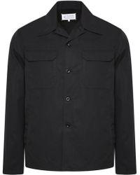 Maison Margiela | Twill Military Over Shirt Black | Lyst