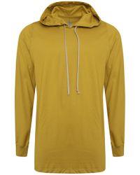 Rick Owens - L/s Pullover T-shirt Hoodie Acid - Lyst