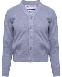 Comme des Garçons - Classic Knit V Neck Cardigan Grey - Lyst