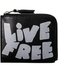 Comme des Garçons - Saj13310 Live Free Wallet Black - Lyst