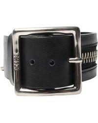 KTZ - Zipper Buckle Bracelet Black - Lyst