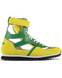 c64f3859ebff Comme des Garçons - Cdg X Spalwart Marathon High Trainers Green yellow -  Lyst