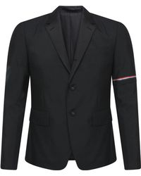 Thom Browne - Rwb Selvedge Arm Stripe Formal S/c Jacket Black - Lyst