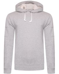 Comme des Garçons - Contrast Drawstring Pullover Hoodie Grey - Lyst
