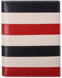 Thom Browne - Striped Leather Passport Holder - Lyst
