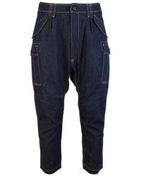 Junya Watanabe - Cropped Denim Cargo Trousers - Lyst
