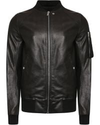 Rick Owens - Raglan Leather Bomber Jacket Black - Lyst