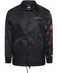 Yohji Yamamoto - New Era Asymmetric Floral Coach Jacket Black - Lyst