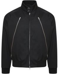 Maison Margiela - Contrast Back Zipped Jacket Black - Lyst