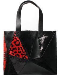 Junya Watanabe - Sequin Panel Tote Bag Black - Lyst