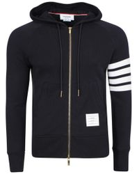 Thom Browne - Engineered 4 Bar Zip Hoodie - Lyst
