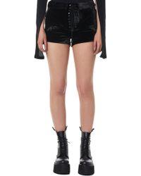 Unravel - Velvet Lace-front Shorts - Lyst