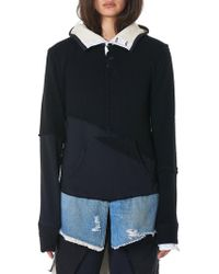 Greg Lauren - Layered Hooded Pullover - Lyst