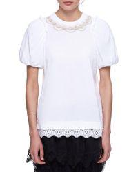 Simone Rocha - Embelished T-shirt - Lyst