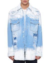1c41ad65fb66 Faith Connexion - Painted Straight Denim Shirt - Lyst