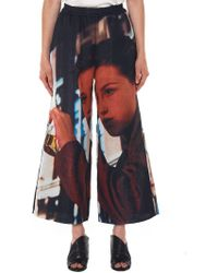 Undercover - Cropped Print Trouser - Lyst