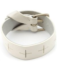 Ma+ - Leather Buckle Wristband - Lyst