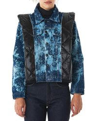 Lutz Huelle | Quilted Bleached Denim Jacket | Lyst