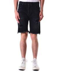 En Noir - Raw Hem Shorts - Lyst