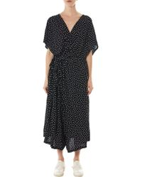 NOCTURNE#22 - Polkadot Draped Dress - Lyst