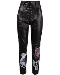 Claire Barrow - Graphic Leather Pant - Lyst