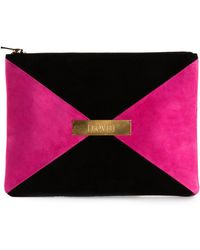 Marie Marot - Colour-blocked Reverse Leather Clutch - Lyst