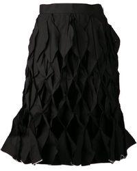 Facetasm - Textured Skirt - Lyst