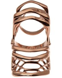 Dominic Jones - Rose Gold Plated Knuckle Ring - Lyst