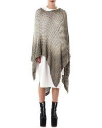 Avant Toi - Loose-knit Poncho - Lyst