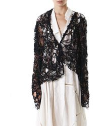 Alessandra Marchi - Asymmetric Hand-knit Sweater - Lyst