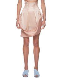 Jenny Fax Asymmetrical Tube Skirt - Pink