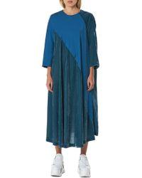 Bernhard Willhelm - Back Placket Velvet Dress - Lyst