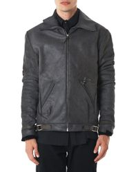 Ma+ - Waxed Reversed Leather Jacket - Lyst