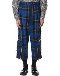 Kidill - Cropped Punk Trousers - Lyst
