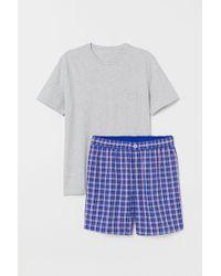 H&M - Schlafshirt und Shorts - Lyst