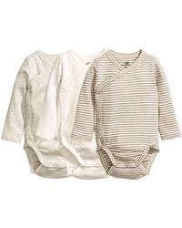 H&M - 3-pack Wrapover Bodysuits - Lyst