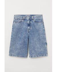 H&M - Loose Fit Denim Shorts - Lyst