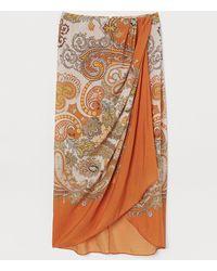 H&M Lyocell-blend Wrapover Skirt