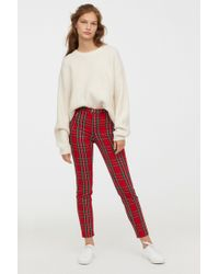 H&M - Fitted Slim-fit Pants - Lyst
