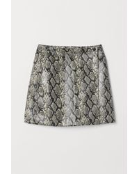 H&M - Short Wrapover Skirt - Lyst