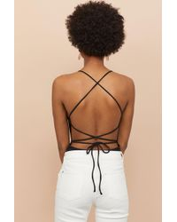 a082031830d H&M - Body With Lacing - Lyst