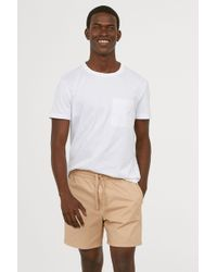 H&M - Cotton Shorts Relaxed Fit - Lyst