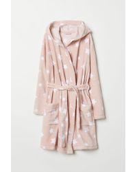 H&M Fleece Dressing Gown - Pink