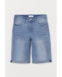 H&M - Denim Shorts - Lyst